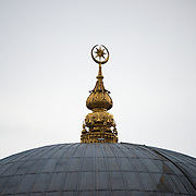 Top of the dome of Dolmabahce Mosque in Istanbul.
