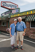 Owners Patty and Larry Litchfield at Sawyers Dairy Bar in Gilford.   (Karen Bobotas/for the Laconia Daily Sun)