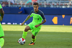 SANTA CLARA, USA - Saturday, July 30, 2016: Liverpool's Philippe Coutinho Correia in action against AC Milan during the International Champions Cup 2016 game on day ten of the club's USA Pre-season Tour at the Levi's Stadium. (Pic by David Rawcliffe/Propaganda)