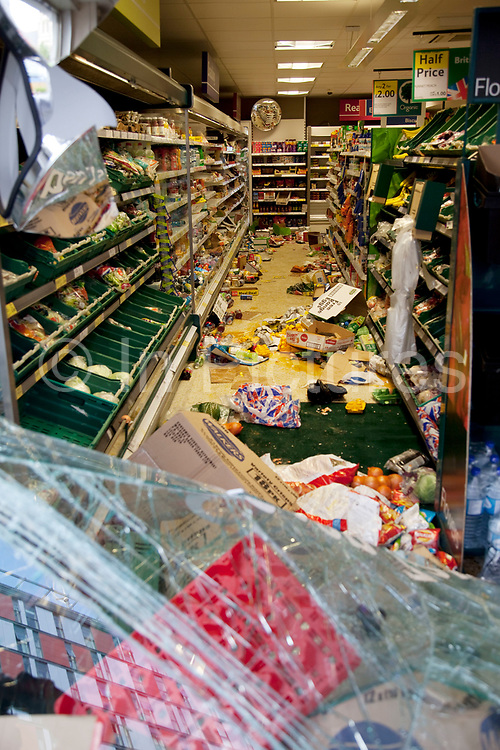 The day after rioting took place in Croydon in South London. Riots flared for a third night in a row, resulting in burnt out buildings, looted shops and general smashed up devastation.