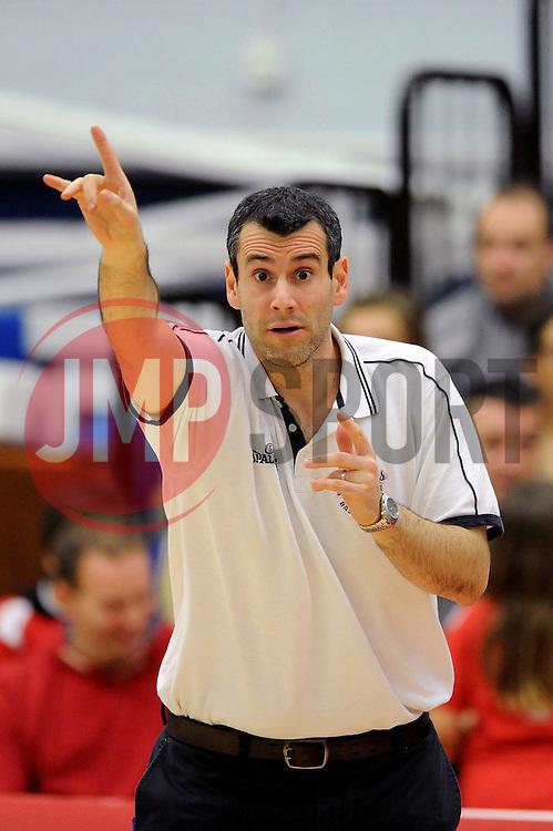 Bristol Flyers coach, Andreas Kapoulas - Mandatory byline: Dougie Allward/JMP - 11/12/2015 - Basketball - SGS Wise Campus - Bristol, England - Bristol Flyers v Plymouth Raiders - British Basketball League