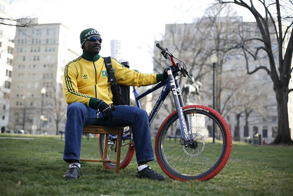 Washington, Feb. 25, 2008 - Stephane Behin, Washington, DC, Bike Messenger