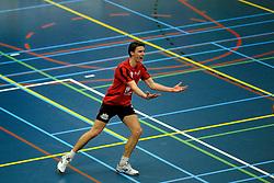 19-02-2011 VOLLEYBAL: PRINS VCV - DRAISMA DYNAMO: VEENENDAAL<br /> Dynamo wint vrij eenvoudig met 3-0 van VCV / Hugo Rijken (#3)<br /> ©2011-WWW.FOTOHOOGENDOORN.NL