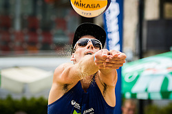 Nejc Zemljak of Debitel during Qlandia Beach Challenge 2015 and Beach Volleyball Slovenian National Championship 2015, on July 25, 2015 in Kranj, Slovenia. Photo by Ziga Zupan / Sportida