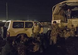 October 20, 2016 - Peshmergas are having late night rest at the frontline near to Bashika. (Credit Image: © Bertalan Feher via ZUMA Wire)