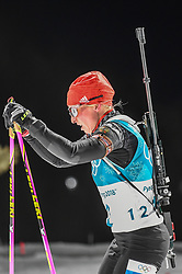 February 12, 2018 - Pyeongchang, Gangwon, South Korea - Franziska Hildebrand of Germany competing at Women's 10km Pursuit, Biathlon, at olympics at Alpensia biathlon stadium, Pyeongchang, South Korea. on February 12, 2018. Ulrik Pedersen/Nurphoto  (Credit Image: © Ulrik Pedersen/NurPhoto via ZUMA Press)