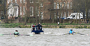 Hammersmith, GREATER LONDON. United Kingdom Cambridge University  Boat  Club, Pre Boat Race Fixture CUBC vs ITA M8+ for the 2017 Boat Race The Championship Course, Putney to Mortlake on the River Thames.<br /> <br /> (DOW)  (DATE}<br /> <br /> [Mandatory Credit; Peter SPURRIER/Intersport Images]