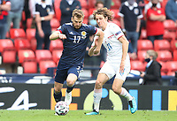 UEFA Euro 2020 Championship Group D match between Scotland v Czech Republic Hampden Park on June 14, 2021 in Glasgow, Scotland<br /> <br /> Stuart Armstrong of Scotland on the attack with Alex Kral behind<br /> <br /> Credit: COLORSPORT/Ian MacNicol