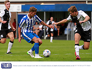 Harry Williams during the Pre-Season Friendly match between Weston Super Mare and Cheltenham Town at the Woodspring Stadium, Weston Super Mare, United Kingdom on 18 July 2015. Photo by Carl Hewlett