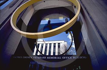 Harrisburg, PA, Market Street Downtown, Architecture, Veterans Building.