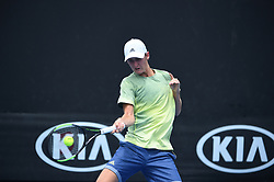 Sebastian Korda (USA), son of former tennis player Petr Korda during his first round match at the 2018 Australian Open at Melbourne Park in Melbourne, AUSTRALIA, on January 21, 2018. Photo by Corinne Dubreuil/ABACAPRESS.COM