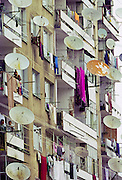 Tenement apartments at a Roma Gypsy Housing Estate In Plovdiv, Bulgaria