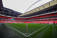 General view inside Wembley Stadium ahead of the FA Vase final match between Chertsey Town and Cray Valley at Wembley Stadium, London, England on 19 May 2019.