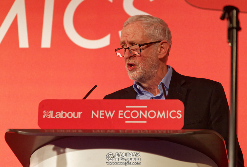 London, United Kingdom - 10 February 2018<br /> Leader of the Labour Party Jeremy Corbyn, speaking at the Labour Party's Alternative Models of Ownership Conference where he spoke about new 21st century forms of democratic ownership of industries.<br /> www.newspics.com/#!/contact<br /> (photo by: EQUINOXFEATURES.COM)<br /> Picture Data:<br /> Photographer: Equinox Features<br /> Copyright: ©2018 Equinox Licensing Ltd. +448700 780000<br /> Contact: Equinox Features<br /> Date Taken: 20180210<br /> Time Taken: 15545932