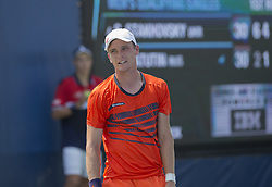 August 22, 2017 - New York, New York, United States - Alexey Vatutin of Russia reacts during qualifying game against Sergiy Stakhovsky of Ukraine at US Open 2017 (Credit Image: © Lev Radin/Pacific Press via ZUMA Wire)
