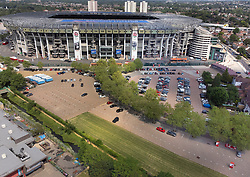 SPECIAL FOR DAILY TELEGRAPH © Licensed to London News Pictures. 15/06/2021. London, UK. The car park of Twickenham Stadium in south west London two weeks after it opened as a vaccine centre. Photo credit: Peter Macdiarmid/LNP