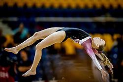 October 28, 2018 - Doha, Quatar - Emilie Winther of Denmark   during  Floor qualification at the Aspire Dome in Doha, Qatar, Artistic FIG Gymnastics World Championships on 28 of October 2018. (Credit Image: © Ulrik Pedersen/NurPhoto via ZUMA Press)