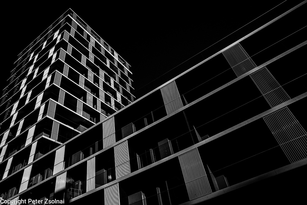 Building of BudaPart a new residential are  built in Buda