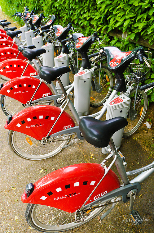 Bicycles for rent, Lyon, France (UNESCO World Heritage Site)