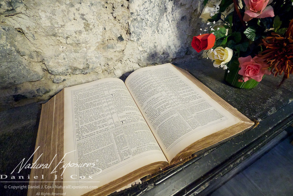 Bible in St. Mary's Cathedral in Limerick, Ireland