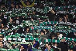 Green Dragons, fans of Olimpija,  at 39th Round of EBEL League ice hockey match between HDD Tilia Olimpija and HK Acroni Jesenice, on December 30, 2008, in Arena Tivoli, Ljubljana, Slovenia. Tilia Olimpija won 4:3. (Photo by Vid Ponikvar / SportIda).