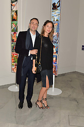 BEN GOLDSMITH and his wife JEMIMA at the Alexandra Shulman and Leon Max hosted opening of Vogue 100: A Century of Style at The National Portrait Gallery, London on 9th February 2016.