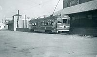 1952 Pacific Electric Freight on Santa Monica Blvd at La Brea Ave.