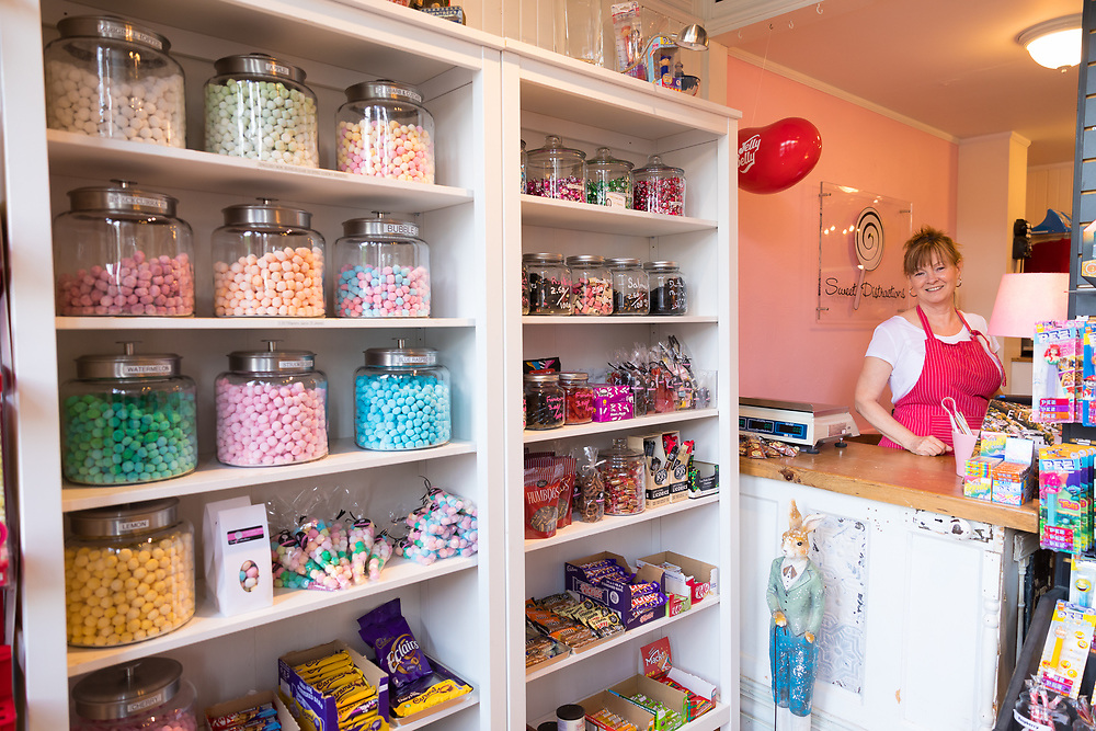 Sweet Distraction, a candy store on Mill Street in Elora, Ontario, Canada
