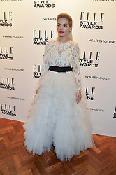 RITA ORA at the 17th Elle Style Awards 2014 in association with Warehouse held at One Embankment, 8 Victoria Embankment, London on 18th February 2014.