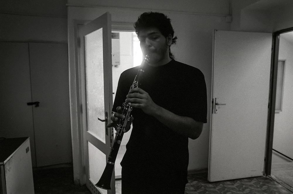 """Mario at the conservatory """"Jana Deyla"""". 1996"""