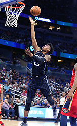 December 22, 2017 - Orlando, FL, USA - The Orlando Magic's Wes Iwundu scores against the New Orleans Pelicans at the Amway Center in Orlando, Fla., on Friday, Dec. 22, 2017. The Pelicans won, 111-97. (Credit Image: © Stephen M. Dowell/TNS via ZUMA Wire)