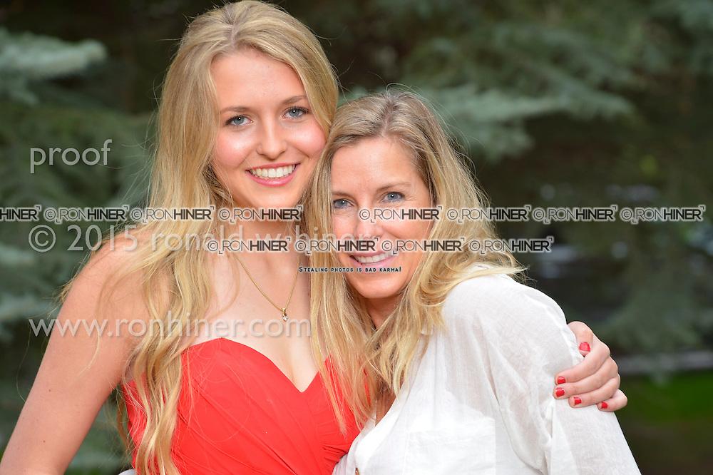 Vail Mountain School Prom Night; Hayley Norvell, Karin Norvell