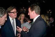 PIERS POTTINGER; DAVID CAMERON, Book launch for Citizen by Charlie Brooks. Tramp. London. 1 April  2009