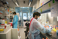 9th IAS Conference on HIV Science (IAS 2017), Paris, France.<br /> IAS Media Field Trip to the Institut Pasteur, to look at the role of French Science in the Global HIV/AIDS Epidemic's Response. Photo shows researchers at the laboratories where HIV/AIDS research is being developed, Institut Pasteur.<br /> Photo ©IAS/Steve Forrest/Workers' Photos