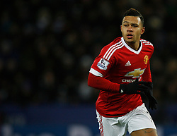 Memphis Depay of Manchester United  - Mandatory byline: Jack Phillips/JMP - 07966386802 - 28/11/2015 - SPORT - FOOTBALL - Leicester - King Power Stadium - Leicester City v Manchester United - Barclays Premier League