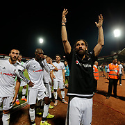 Gaziantepspor's and Besiktas's during their Turkish Spor Toto superleague soccer match Gaziantepspor between Besiktas at the Kamil Ocak stadium in Gaziantep Turkey on Friday 28 August 2015. Photo by Aykut AKICI/TURKPIX
