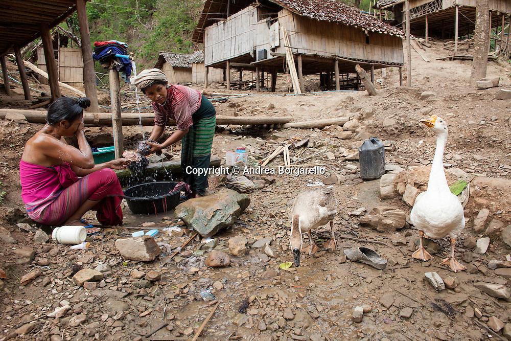 Traditional Karen village