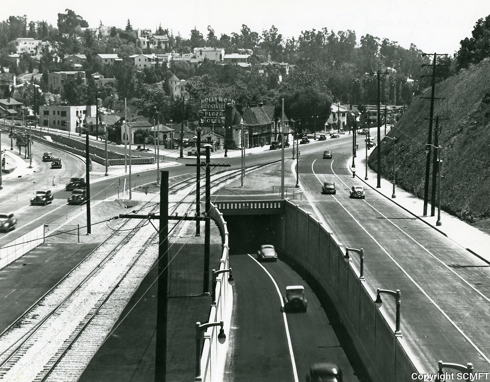 1941 Cahuenga Pass at the junction with Highland Ave.