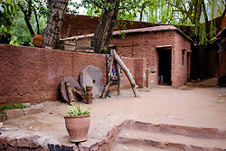 The courtyard of a Berber house in the Ourika Valley, Morocco, North Africa<br /> <br /> (c) Andrew Wilson | Edinburgh Elite media
