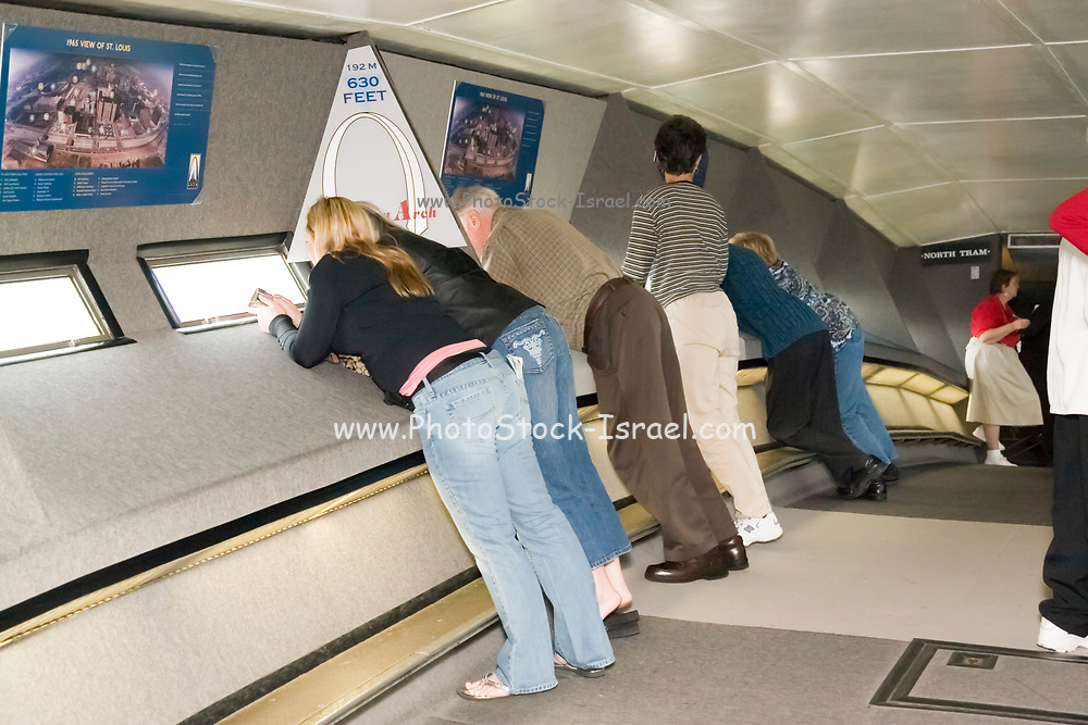 St. Louis Missouri MO USA, Inside the observation deck on the Gateway Arch