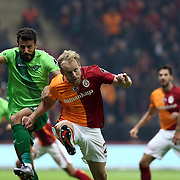 Galatasaray's Semih Kaya (M) during their Turkish Super League soccer match Galatasaray between Akhisar Belediye Genclik ve Spor at the AliSamiYen Spor Kompleksi TT Arena at Seyrantepe in Istanbul Turkey on Sunday, 20 December 2015. Photo by Aykut AKICI/TURKPIX