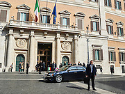 Il Presidente della Repubblica arriva in auto al Parlamento, Roma 11 marzo 2015.  Christian Mantuano / OneShot <br /> <br /> The President of the Republic arriving at the Parliament  by car, Rome on March 11, 2015. Christian Mantuano / OneShot