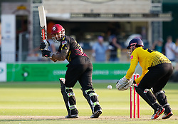 Somerset's Peter Trego watches one go down the leg side<br /> <br /> Photographer Simon King/Replay Images<br /> <br /> Vitality Blast T20 - Round 1 - Somerset v Gloucestershire - Friday 6th July 2018 - Cooper Associates County Ground - Taunton<br /> <br /> World Copyright © Replay Images . All rights reserved. info@replayimages.co.uk - http://replayimages.co.uk
