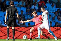 RC Celta de Vigo's Pedro Pablo Hernandez (r) and Real Sociedad's Asier Illarramendi during La Liga match. August 19,2017. (ALTERPHOTOS/Acero)