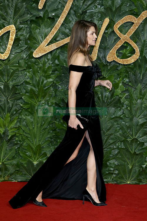 The British Fashion Awards 2018 at the Royal Albert Hall in London, UK. 10 Dec 2018 Pictured: Cindy Crawford. Photo credit: Fred Duval/MEGA TheMegaAgency.com +1 888 505 6342