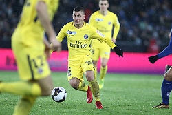 December 13, 2017 - Strasbourg, France - Verrati Marco of PSG during the french League Cup match, Round of 16, between Strasbourg and Paris Saint Germain on December 13, 2017 in Strasbourg, France. (Credit Image: © Elyxandro Cegarra/NurPhoto via ZUMA Press)
