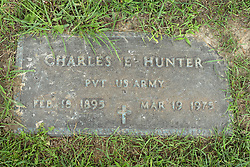31 August 2017:   Veterans graves in Park Hill Cemetery in eastern McLean County.<br /> <br /> Charles E Hunter  Private US Army  Feb 18 1895  Mar 19 1975