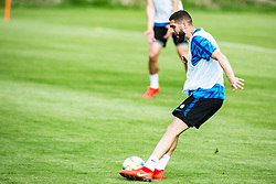 Miha Mevlja of Slovenia national football team during practice session, on June 3, 2019 in Kranjska Gora, Slovenia. Photo by Peter Podobnik/ Sportida