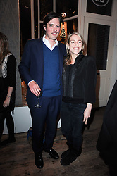 HARRY & LAURA LOPES she is the daughter of the Duchess of Cornwall at the opening of Luke Irwin's showroom at 22 Pimlico Road, London SW1 on 24th November 2010.