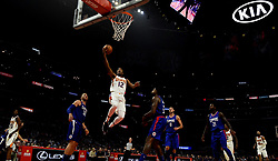 October 21, 2017 - Los Angeles, California, U.S. - Phoenix Suns forward TJ Warren (12) drives to he basket against the Los Angeles Clippers in the first quarter during an NBA basketball game at the Staples Center on Saturday, Oct 21, 2017 in Los Angeles. .(Photo by Keith Birmingham, Pasadena Star-News/SCNG) (Credit Image: © San Gabriel Valley Tribune via ZUMA Wire)